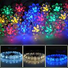 20LED 8 Modes Solar Power Flower Fairy String Lights Blossom Xmas Garden Home