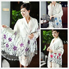 New Womens Cotton Tassels Flower Warm Winter Stole Long Soft Scarf Shawl Wrap