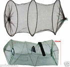 Crab Fish Crawdad Foldable Fishing Gear Fish Trap Keep Net Green river lake