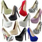 Pointy Toe Hidden Platform Stiletto Pump Wedding Bridal Club Party Dress Shoes