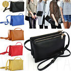 Women Vintage Trio Crossbody Sling Faux Leather Fashion Shoulder Messenger Purse