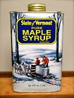 Pure Vermont Maple Syrup Quart Tin Container Medium Amber, Dark Amber, Grade B