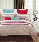 Luxury Paisley Design on Pink 300 Thread Count 100% Cotton Duvet Cover Set