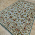 Traditional Floral Silk Look Rugs Genova Traditional Floral Duck Egg 380140/5252