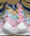 LOT Polka Dot Cute Cherry COTTON Junior Kid Girl Wire Free Training Bra - A CUP
