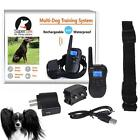 Bluescreen Waterproof Remote Shock Rechargeable LCD Pet Dog Training Collar SWTG