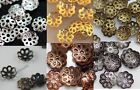 500pcs Metal flower bead caps 6mm for jewelry accessories 6 colors U Pick