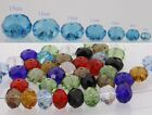 Multicolor Faceted Crystal Loose Spacer Beads Rondelle 6/8/10//12/14/16/18mm