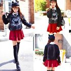 FASHION WOMENS JAPAN KOREAN LADY LOOSE LONG SLEEVE Cat Print T-SHIRT BLOUSE TOP