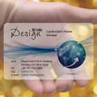 Blue Design 200pc Color Frosted Transparent PVC Plastic Business Cards Print