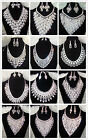 Bride Luxury Shiny Crystal Bridal Wedding Necklace+Earrings Party Jewelry Set