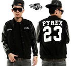 BIGBANG GD G-Dragon PYREX VISION 23 Hip-Hop baseball coat leather sleeves jacket