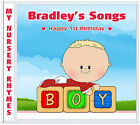 My First Nursery Rhymes: 1st BIRTHDAY Gift - Boys Personalised Birthday Present