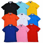 Tommy Hilfiger Mens Polo Shirt Custom Fit Interlock Top Short Sleeve Flag Logo