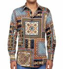 Robert Graham Isla George Limited Edition Swarovski Buttons Beaded Shirt M NWT