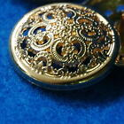 10 Sewing Buttons Craft Metal Shank Vintage-like Round Gold DIY Lot Many Sizes