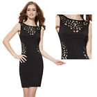 Ever Pretty Sexy Hot Black Hollow Cocktail Party Ladies New Casual Dress 05176