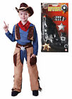Cowboy Boys Kids Childrens Costume Woody Outfit Fancy Dress with GUN Age 4 - 9