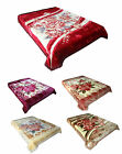 Luxury Super Thick Large Soft Thermal Winter Floral Mink Blankets 2 Ply 200x240