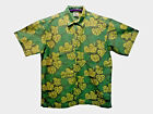 Hawaiian Style Cotton Batik Shirt S M L XL Leafy Green High Quality Loud Shirt