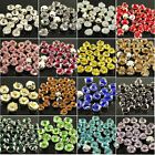 100pcs 4/5.5/6mm mix color AAA faceted sew on crystal rhinestones Jewels pk size