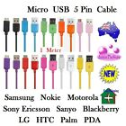 Micro USB 5 Pin Cable 1m for Samsung HTC Sony LG Nokia Data Transfer Charger