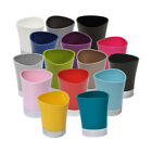 Evideco Bath Tumbler Shiny Colors with Chrome Base  or toothbrush holder