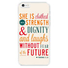 Bible Verse Proverbs 31:25 Quote Hard Cover Case For Apple iphone 7 6S 6 Plus