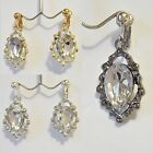 Rhinestone Dangle 1- 1/4 inch Drop CLIP ON or Pierced Fashion Earrings Choose