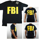FBI Federal Agent Bureau of Investigation Mens 100% Cotton Front & Back T-Shirt