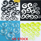Gauge Punk Snail Spiral Acrylic Hook Taper Ear Plug Earring Expander Stretcher