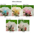 50 Glittered Nylon Butterfly Wedding/Party Decorations