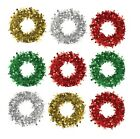 25CM TINSEL WREATH GARLAND ARTIFICIAL CHRISTMAS TREE WALL DOOR DECORATION XMAS