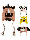 Cute Kids Baby Girls Boys Long Ear Dog Horse Cow Crochet Knit Earflap Hat Cap