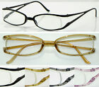 L7 (3 Pairs Reading Glasses Only £4.99) Semi Rimless Lightweight Memory Plastic
