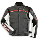 DUCATI MECCANICA 11 LEATHER JACKET SIZE 50  54 EURO BLACK WHITE RED