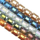 16x Large Faceted Rectangular Glass Crystal Beads 18mm For Jewellery Making