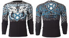 Xtreme Couture AFFLICTION Men THERMAL T-Shirt LIGHTNING Tattoo Biker M-3XL $58 a image