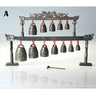 Chinese Chime Bells Percussion Musical Instrument Dragon Brass Alloy Decor Craft