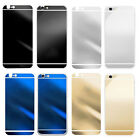 Electroplating Mirror Effect Back Tempered Glass Screen Protector For iPhone 6 P