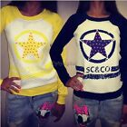Womens SCCO Cardigan Hoodie Sweater Sweatshirt Jacket Coat Winter Outwear Top 35
