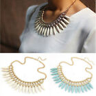 Hot Women Fashion Crystal Pendant Chain Choker Chunky Statement Bib Necklace