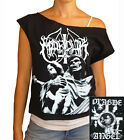 "Marduk ""Plague Angel"" women's cropped  raw edge off-shoulder top"