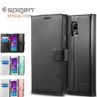 Genuine Spigen Flip View Cover Case Wallet S for Samsung Galaxy Note 4