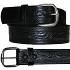"""Men Leather Belt 1-3/4"""" Casual Western Design Embossed Removable Buckle USA MADE"""