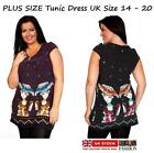 LADIES PLUS SIZE LARGE FLEECED TUNIC DRESS JERSEY TOP MINI JUMPER BLOUSE SWEATER