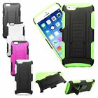 Heavy Duty Rugged Hybrid Armor Stand Dual Holster Case For iPhone 6 6S 4.7""