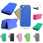 "Case for Apple iPhone 6 (4.7"") with Credit Card Slot Kickstand Hybrid Cover"