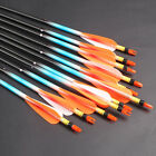 New Fiberglass Arrows With Wraps Fletched Hunting Screw-In Steel Tips Archery BO
