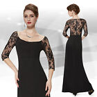 Ever Pretty Maxi 3/4 Sleeve Formal Evening Celebrity Red Carpet Dress 08311